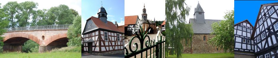 Historische Bauten in der Region Marburger Land