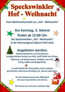 Weihnachtsmarkt in Neustadt-Speckswinkel mit Besuch vom Nikolaus @ Zollhof Neustadt-Speckswinkel